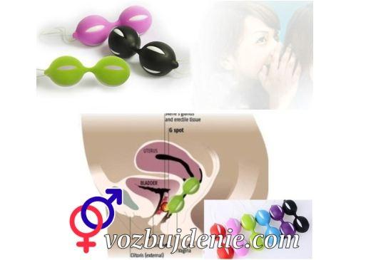 Занятие сексом свагинальными шариками