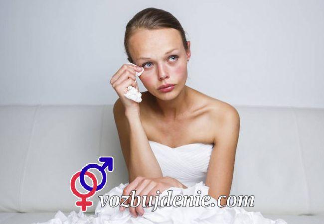 Расстроенная и плачущая невеста