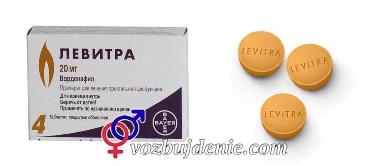 Таблетки Левитра (варденафил): отзывы, инструкция, купить в аптеках