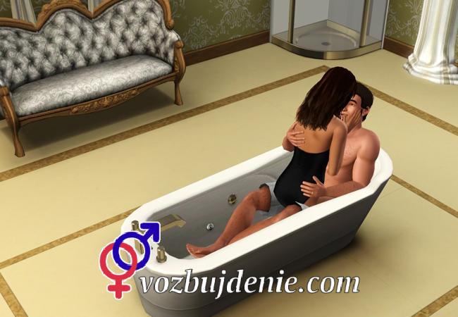 Поза для секса в ванной